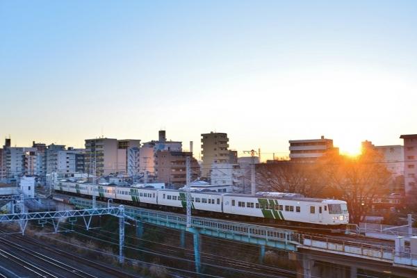 2018年1月3日 JR東日本横浜線 大口~東神奈川 185系B5編成