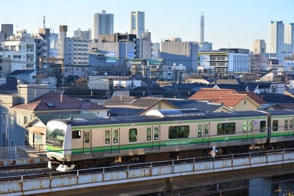 2018年1月3日 JR東日本横浜線 大口~東神奈川 E233系H017編成