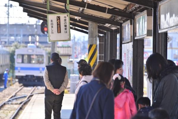 2019年3月9日 福島交通飯坂線 桜水 7000系7101+7202編成