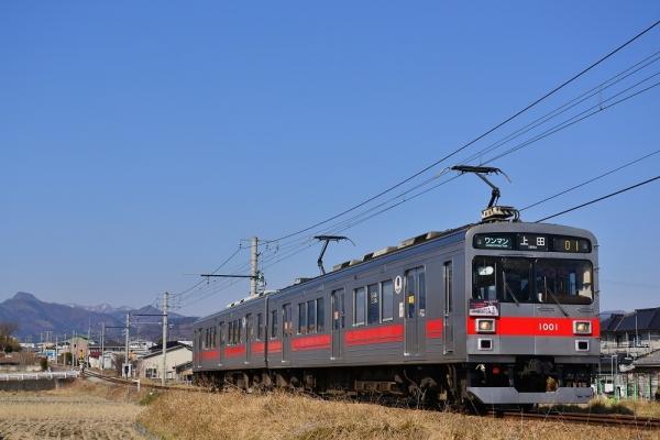 2019年3月15日 上田電鉄別所線 赤坂上~三好町 1000系1001編成