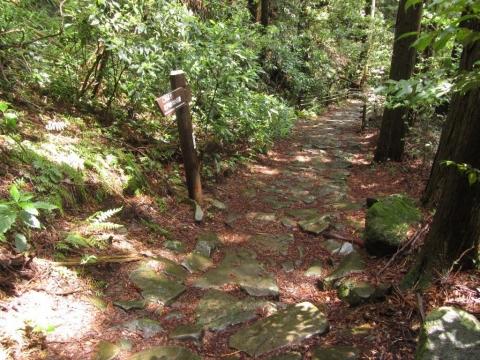 割石坂 江戸時代の石畳