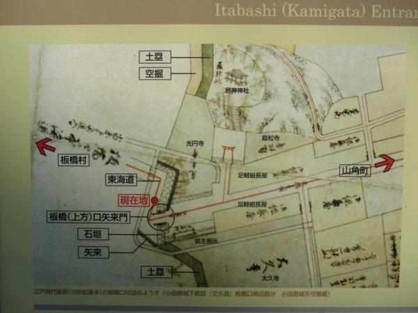 江戸時代後期の板橋口付近の様子
