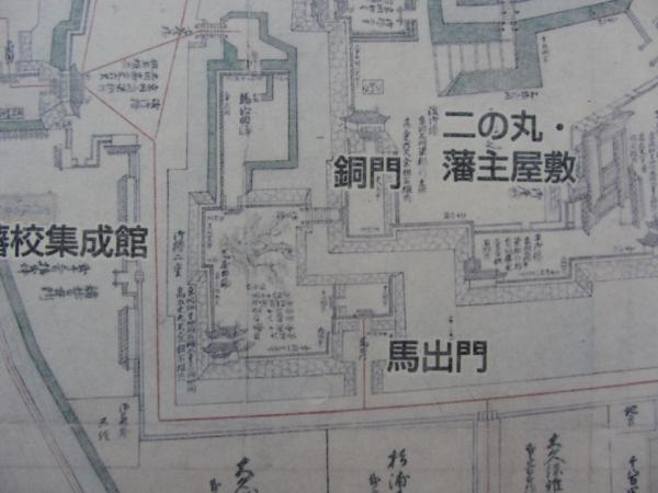 小田原城絵図(文久図) 馬出門・銅門