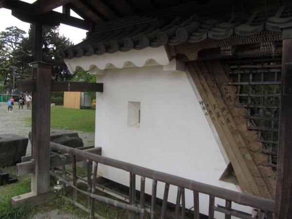 銅門土塀模型