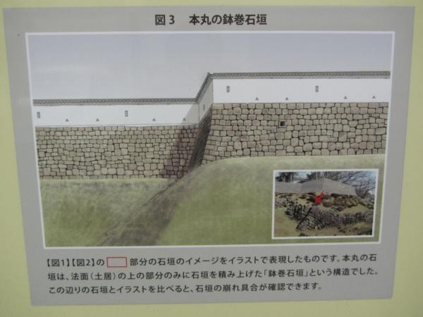 本丸の鉢巻石垣
