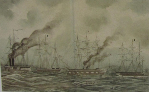 品川出航の図