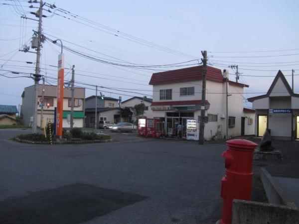 渡島当別駅前