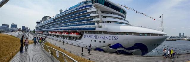 大桟橋に停泊中のダイヤモンド・プリンセス