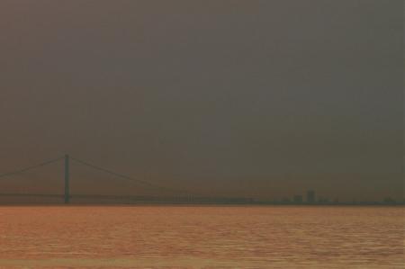 SUNSET VIEW OF AKASHI BRIDGE 20140517-2