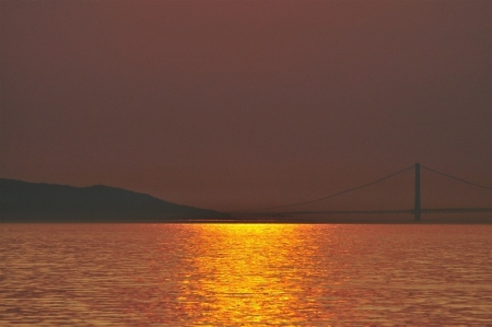 SUNSET VIEW OF AKASHI BRIDGE 20140517