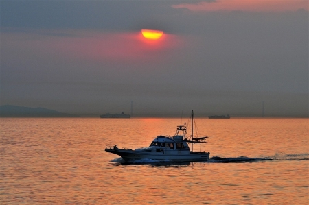SUNSET VIEW FROM KISHIWADA BAY AREA 20140517