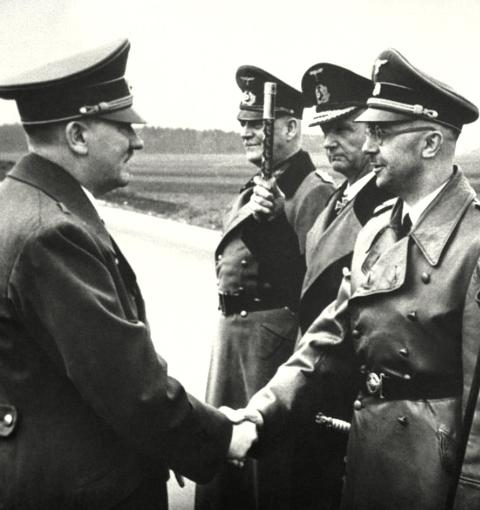 Adolf Hitler_Wilhelm Keitel_Karl Doenitz_Heinrich Himmler_18 Mai 1944