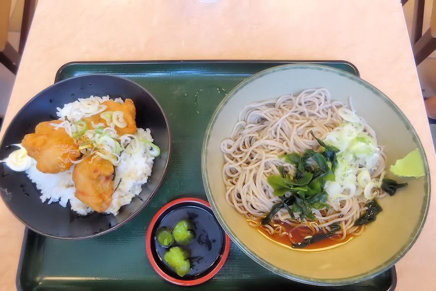 鶏唐揚げ丼セット1