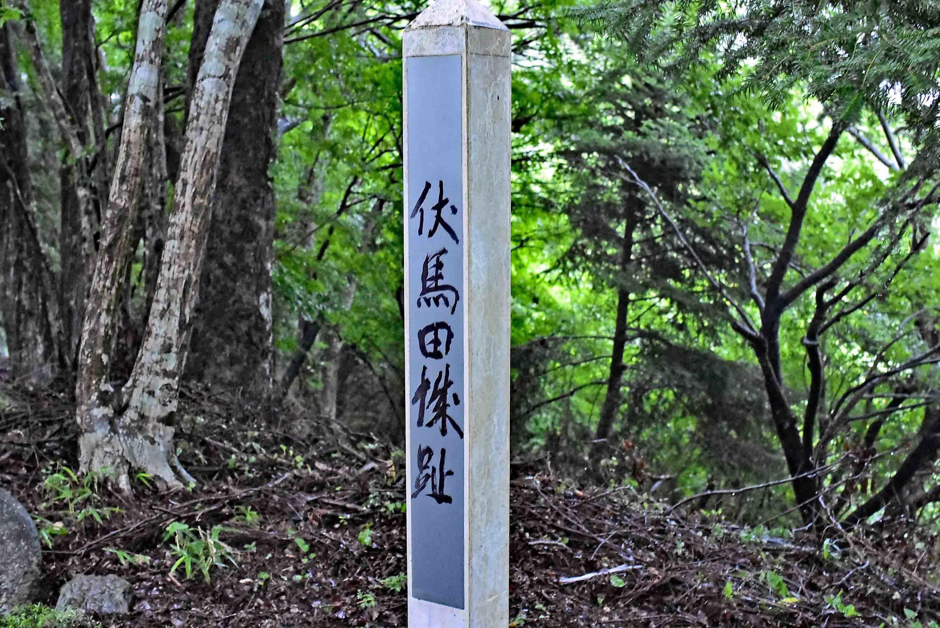 尾崎城(伏馬田城)標柱