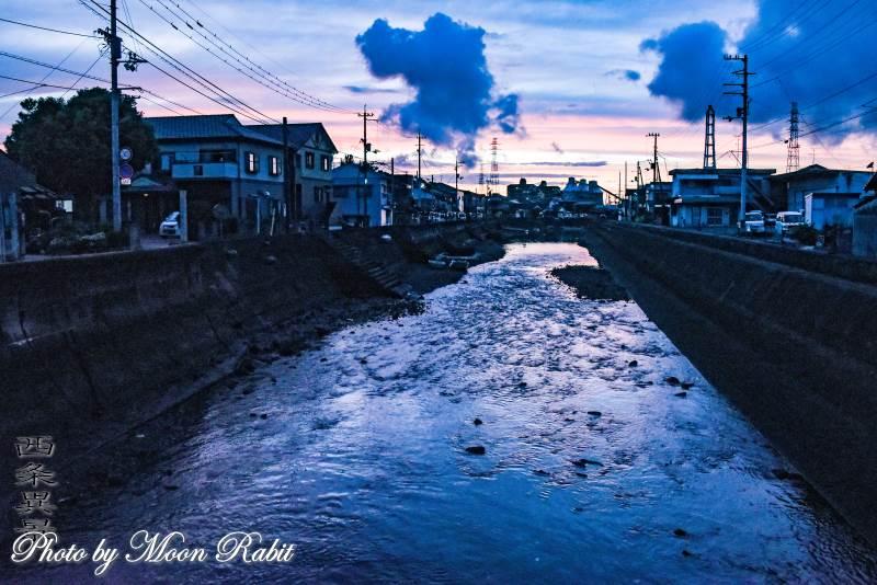 西条漁港の夕景 愛媛県西条市北浜南