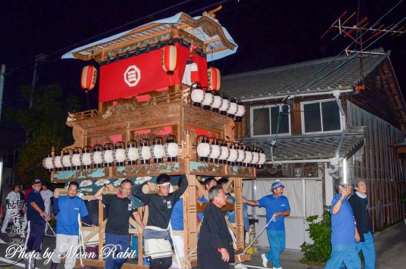 先代西町東組だんじり(屋台) 常盤祭2018