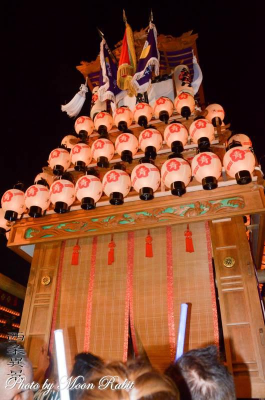 西之川原だんじり(屋台) お旅所2018