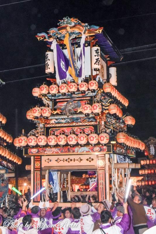 東原だんじり(屋台) お旅所2018