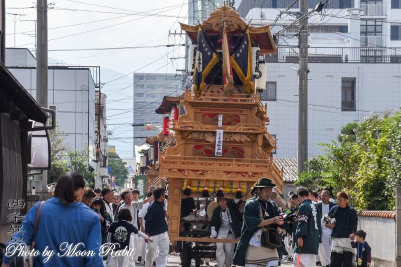 栄町中組だんじり(屋台) 統一運行