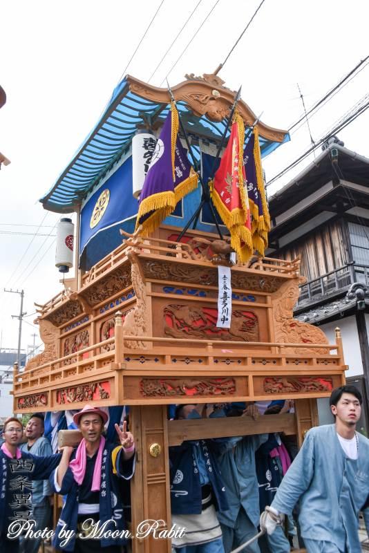 喜多川中だんじり(屋台) 統一運行