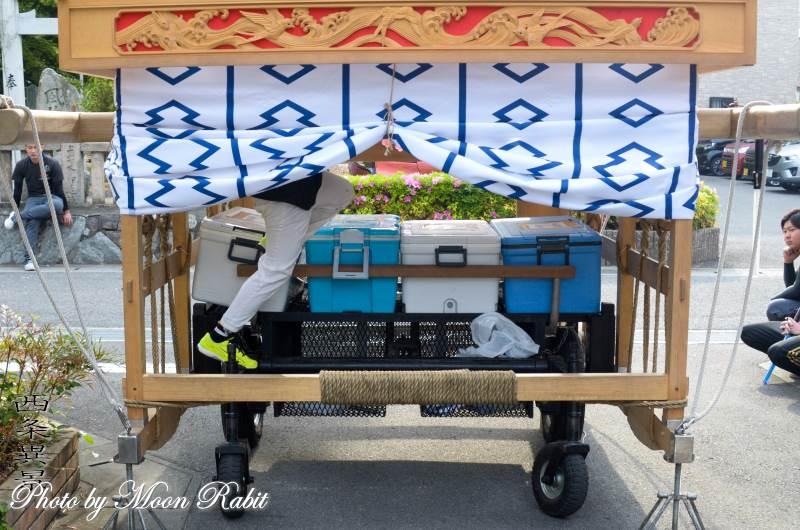 喜多町屋台(だんじり) 台輪・土台幕・舁き棒
