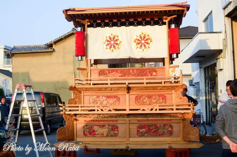 組み立て 吉原三本松だんじり(屋台) 伊曽乃神社祭礼 西条祭り 愛媛県西条市