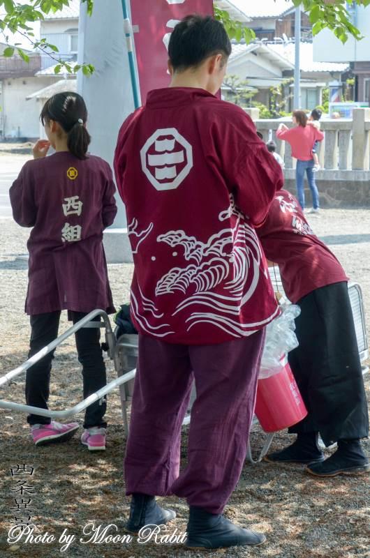 西町西組だんじり(屋台) 祭り装束