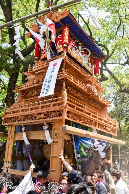 上喜多川だんじり(屋台) 天皇陛下御即位奉祝