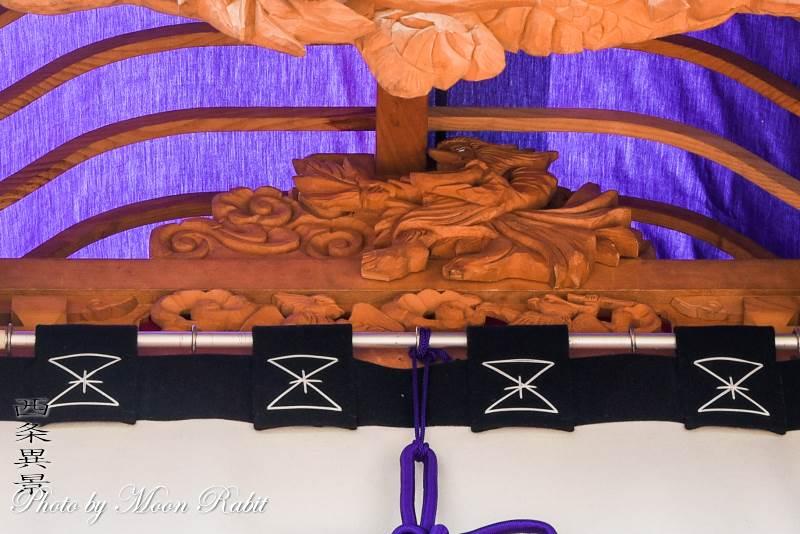 船形だんじり(屋台) 蟇股 伊曽乃神社祭礼 西条祭り 愛媛県西条市