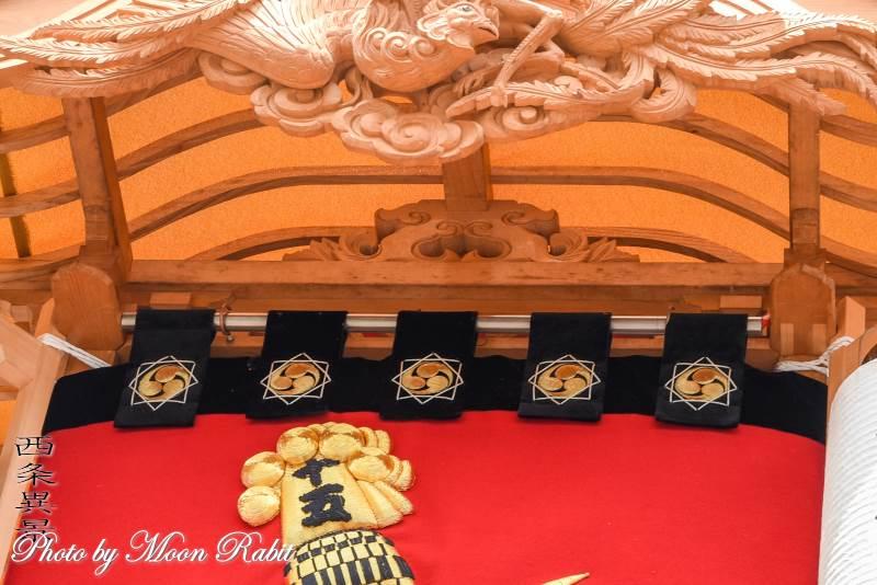 新出屋台(だんじり) 蟇股 西条祭り 石岡神社祭礼 愛媛県西条市