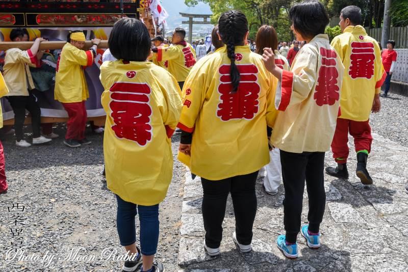 裏組屋台(だんじり) 祭り装束 西条祭り