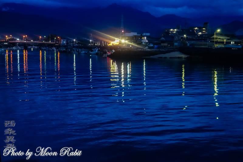 西条漁港の夜景 愛媛県西条市北浜北