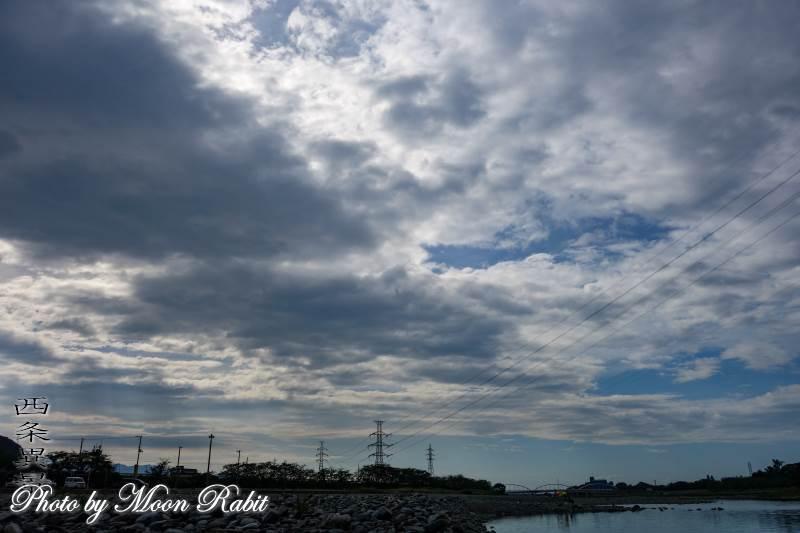 加茂川と雲 愛媛県西条市