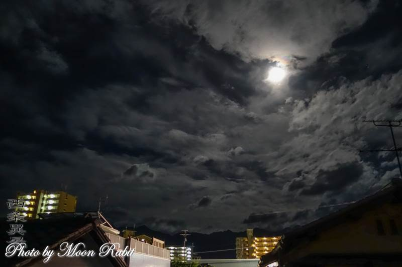 月と雲 愛媛県西条市神拝