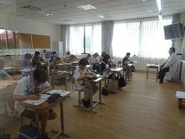 4中学部試験前