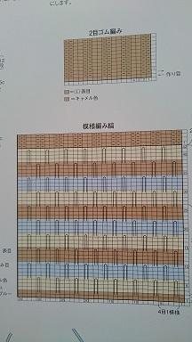 編み図引き上げ編み
