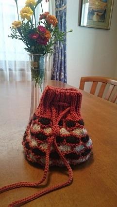 バッグ引き上げ編み